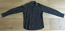 CHASIN MT M Overhemd hemd L66cm B52cm zwart grijs wit gestreept MEDIUM Heren