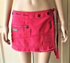 DIESEL: Vintage Mini Skirt Wrap Watermelon-Red Fray Casual S-27