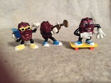 "Vintage California Raisins Set of 3. Boom Box. Trumpet. Skateboarder. 2""."
