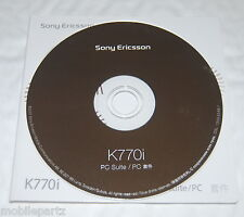 Genuine Original Sony Ericsson K770i Mobile Phone CD Software / PC Suite