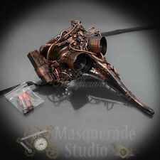 Steampunk Plague Doctor Costume Theater Light-up Masquerade Mask [Copper]
