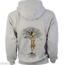 Trumpet Hoody Musical Tree in sizes Kids to XXL