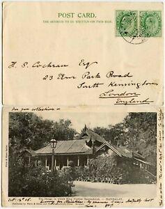 BURMA SHORE MANDALAY POSTMARK on 1905 PPC KING THEBAW HOUSE VFU EARLY UB