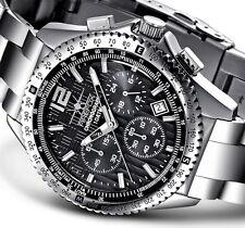 FIREFOX Edelstahl Armband Herrenuhr mit Seiko Chronograph VD53 10ATM wasserdicht