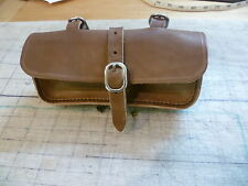 Old, vintage, retro style leather bicycle TOOLBAG, SADDLEBAG Australian made.