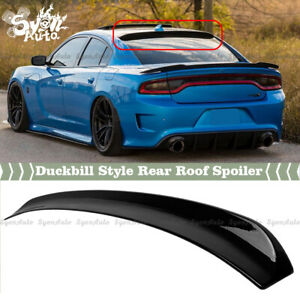 FITS 2015-2021 DODGE CHARGER GLOSS BLACK DUCKBILL STYLE REAR WINDOW ROOF SPOILER