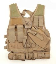 NcStar Vism Youth Tactical Crossdraw Vest Tan New Airsoft Vest