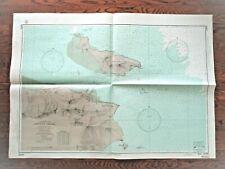 """1972 Soundings Map LIEN-YUN CHIANG China East Coast 30x42"""""""
