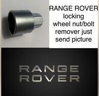 RANGE ROVER INCLUDING EVOQUE LOCKING WHEEL BOLT / NUT/ MASTER KEYS -SEND PICTURE