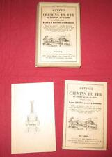 notice sur les chemins de fer du Rhone et de la Loire 1843-44    reprint