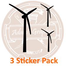 3 X Pegatina turbinas de viento Pack-Coche eléctrico EV energías renovables