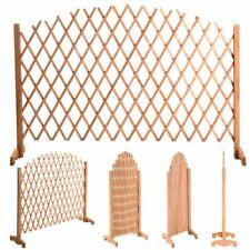 6ft 180cm Arched Expanding Freestanding Wooden Trellis Fence Garden Screen Plant
