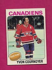 1975-76 TOPPS # 70 CANADIENS YVAN COURNOYER ERROR  NRMT+ CARD (INV# 7625 )