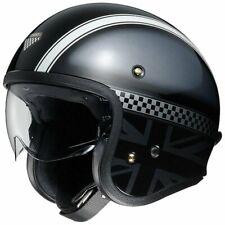 Open Face Helmet Shoei J.O Hawker Jet Road Bike Motorcycle Black Lid FREE P&P