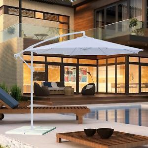 Ombrellone da giardino orientabile con palo decentrato girevole rotondo 3 m