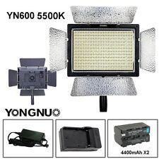 YONGNUO YN600 Pro LED 5500k Video Light Remote for Canon Nikon Camcorder UK