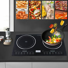 New listing 110V Electric Double Induction Cooktop Built In Countertop Cooker Two Burners