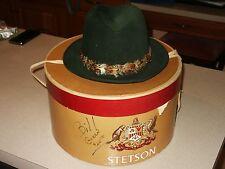 Vtg Stetson The Sovereign Feather Hat Sz. 7 Original Box Gubis's Northumberland