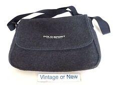 Women's VTG 90's Polo Sport Ralph Lauren Dark Grey Black Crossbody Messenger Bag