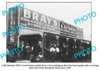 OLD 6 x 4 PHOTO COFFS HARBOUR NSW BRAYS GENERAL STORE c1930