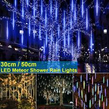 LED Meteor Shower Light Waterproof Falling Rain Icicle Outdoor Christmas Tree EN