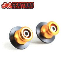 Sekitoba CNC Swingarm Spools Sliders Paddock Stand Bobbins 8mm Gold