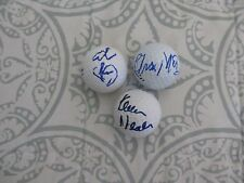 HAPPY GILMORE CAST SIGNED GOLF BALLS ADAM SANDLER CHRISTOPHER MCDONALD 3x DC/COA