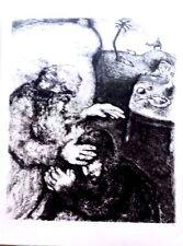 Marc Chagall offset lithograph Bible  paris maeght 1960 original  2 sided 142