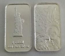 1 Gramm 999 Silber Silberbarren USA Freiheitsstatue Liberty Island New York