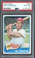 1965 TOPPS #583 WES COVINGTON PSA 8 SP PHILLIES  *K3644