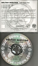 HELTAH SKELTAH I ain't Havin that /Worldwide RADIO& INSTRUMENTAL PROMO CD single