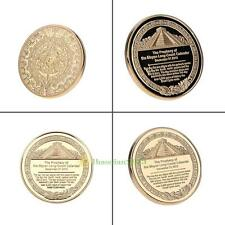 Plated Gold Bitcoin Coin Collectible BTC Coin Art Collection Gift Physical+Case