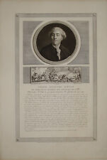 "Stampa antica ""Neker"" ministro luigi XVI louis banchiere rivoluzione francese"