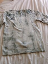 Mens Mint green and white tie dyed top. Size S .