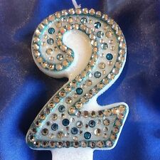 Number 2 Two Birthday Candle Frozen Party Cake Topper FREE POST