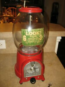 Universal 1-2-3 Model A One Cent Coin Operated Gumball Machine