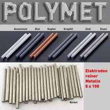 Zinn-Stab-Anode Elektrode 100 x 8 mm Elektrolyse Galvanik Zinnelektrode Sn 99,9