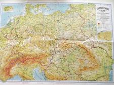 """Landkarte historische Schulkarte Grossdeutschland  """"Großdeutsches Reich 1942"""""""