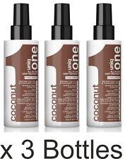 3 x Uniq 1 CON FRAGRANZA COCCO dall' Revlon tutto in un unico trattamento capelli 150ml
