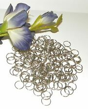 100 Silver Tone Metal Chandelier~Lamp Connector Rings~Parts (11mm x 1mm)