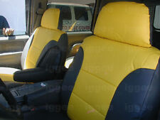 GMC SIERRA 1995-1999 IGGEE S.LEATHER CUSTOM FIT SEAT COVER 13COLORS AVAILABLE