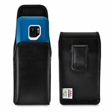 Galaxy S9 Vertical Holster for Otterbox DEFENDER Case Flush Leather Belt Clip