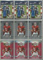 Cyrus Jones New England Patriots Alabama 9 card 2016 RC lot-3 different