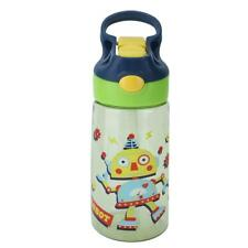 Portable Baby Feeding Cup Cartoon Children Kid Water Drinking Cup Straw Bottle