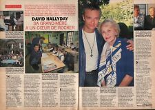 Coupure de presse Clipping 1993 David Hallyday et sa Grand Mère (2 pages)