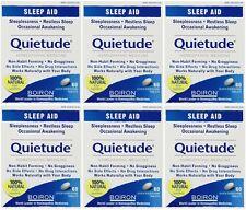 6 Pack Boiron Quietude Natural Sleep Aid sleeping pills 60 dissolving tablets Ea