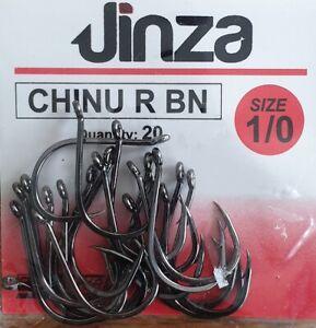 20 hameçons Grauvell Jinza Hameçon tige courte Chinu R BN N°1/0