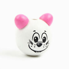 Perle 3D Rose Souris 25mm Tete Panda creation attache tetine... Perle 2,5cm