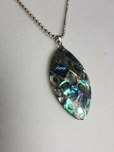 Abolone Paua Shell Pendant Necklace