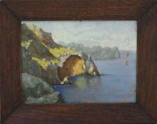 Tableau marine vers 1930 bord de mer falaises